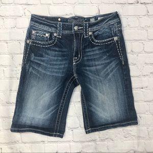 Miss Me Boyfriend Bermuda Jean Shorts Medium Wash